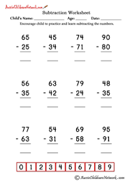 double digit subtraction worksheets no borrowing aussie