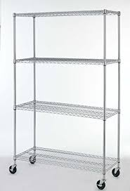 Kitchen Metal Shelves by Amazon Com New Chrome Commercial 4 Layer Shelf Adjustable Steel