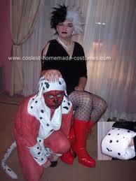 Dalmation Halloween Costume Coolest Homemade Cruella Deville Skinned Dalmation Couple
