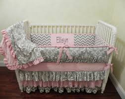 Pink And Gray Crib Bedding Sets Etsy Your Place To Buy And Sell All Things Handmade