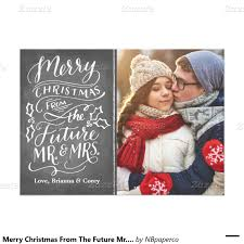 engagement announcement cards merry christmas from the future mr and mrs photo card