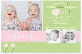 twins first birthday invitations gallery invitation design ideas