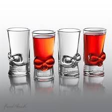 unique barware set of 4 brainfreeze skull glasses gift set unique