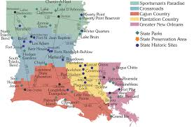 louisiana map areas calendar of events louisiana state parks