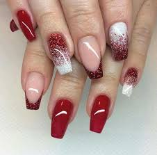 the 25 best red glitter nails ideas on pinterest red nail red