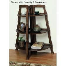 Corner Bookcase Wood 3 Tier Cherry Solid Wood Corner Bookcase