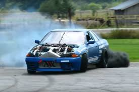nissan skyline drift car video a diesel powered twin turbo drift car say what