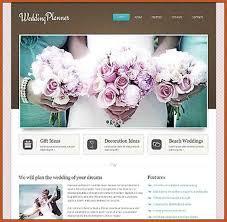 wedding planner website wedding website templates sop exle