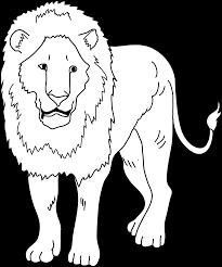 lion coloring page free clip art
