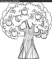 9 images of apple tree coloring page realistic apple tree