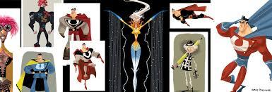 Megamind Halloween Costumes Early Concept Designs Megamind Metro Man Titan Minion U0026 Roxanne