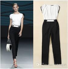 formal jumpsuit 2018 high playsuit jumpsuits black and white