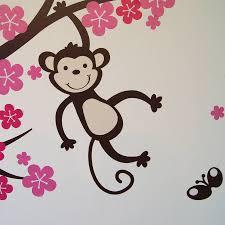 28 monkey wall sticker three monkey tree decal with branch monkey wall sticker personalised monkey blossom wall stickers by parkins