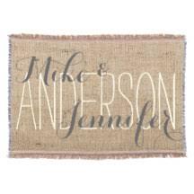personalized wedding blanket wedding throw fleece custom blankets zazzle