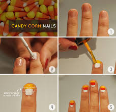 halloween diy tutorial candy corn nail art