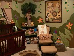 baby nursery cheerful jungle theme baby room decoration with brown