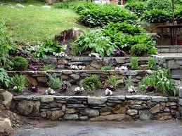 Tiered Backyard Landscaping Ideas with Tiered Garden Design Ideas