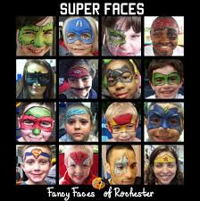 fancy faces of rochester super hero face painting