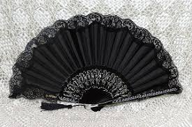 lace fans painted fans with lace abanicos de tela con puntilla