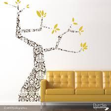 modern damask large tree vinyl wall decal large tree