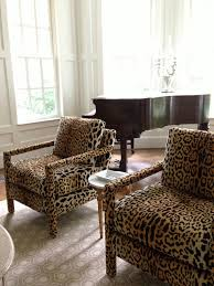 Leopard Chairs Living Room Braemore Jamil Leopard Fabric The House
