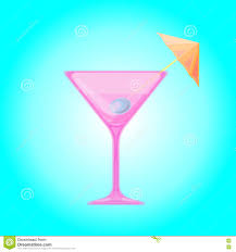 martini clipart no background martini glass with olive and cocktail umbrella stock illustration