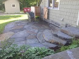 Stones For Patio Hilltown Tree And Garden Portfolio Windsor Ma Flagstone Patio