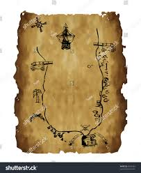 Blank Pirate Map Template by Old Treasure Map Stock Vector 60531664 Shutterstock