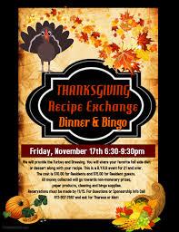 seven oaks thanksgiving dinner and bingo