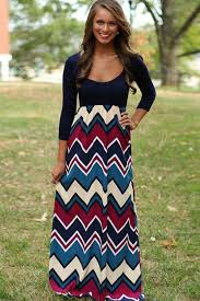 chevron maxi dress blue color block chevron print maxi dress casual dresses