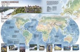 Future Map Of The World by Unesco World Heritage Centre 2016 2017 World Heritage Map Published
