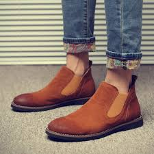 aliexpress com buy mens shoes genuine leather boots vintage men