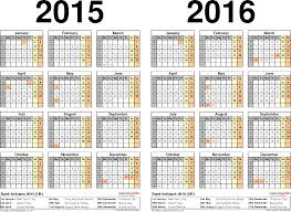 two year calendars for 2015 u0026 2016 uk for excel