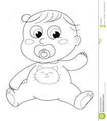 cute baby coloring stock photo image 13636540