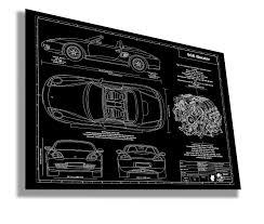 porsche cartoon drawing laser engraved blueprint artwork new sponsor rennlist porsche
