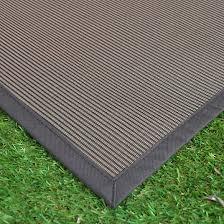 tapis extérieur pvc tressé marron 120 x 180 cm decoweb