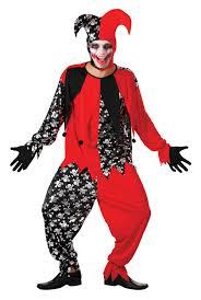 mens evil jester black u0026 red halloween fancy dress costume joker