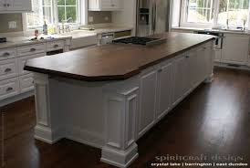 custom walnut slab kitchen island top by spiritcraft design furniture