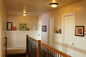 pleasant board and batten wainscoting with white high gloss