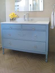 how to turn a cabinet into a bathroom vanity hgtv
