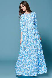 Light Blue Colors by Floral Light Blue Dress