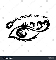 eye tattoo maori tribal tattoo eye stock vector 314618426