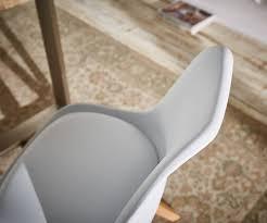 Esszimmerstuhl Kunststoff Esszimmerstuhl Tatiani Weiss Kunststoff Beine Buche Möbel Stühle