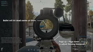 pubg 8x scope aiming and zeroing basics