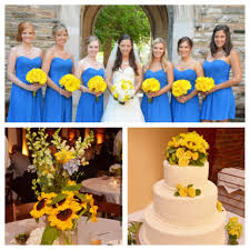 blue and yellow wedding everything wedding u003c3 pinterest