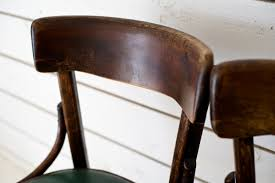 Wooden Bistro Chairs Wooden Bistro Chairs With Green Seats X 2 Loft