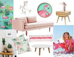 mood board feel the pink flamingo in home decor modern home decor