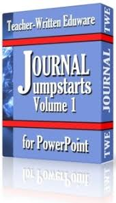 20 journal writing prompts powerpoint with looping animations