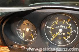 mercedes dashboard clock mercedes benz r107 removal and installation of tachometer and