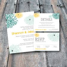 Wedding Invitation Insert Cards Floral Wedding Invitation Suite Rsvp Card Details Card